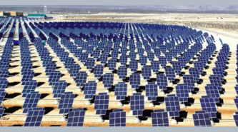 Hundreds of Solar Panels in a field
